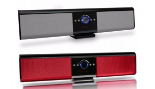 Touch Control TG018 Portable Wireless Bluetooth Soundbar Super Bass Speaker With Remote Control - Red