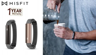 Misfit Ray WL Activity Tracker With Black Sport Band - Carbon Black