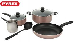 Pyrex Argento Aluminum 7 Pieces Cooking Set