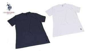 U.S. Polo Assn Crew Neck T-Shirt For Women - White - Size: Small