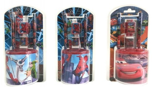 Set Of Plastic Pencil Holder With Stationary 7 Pcs - Spiderman