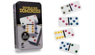 Cardinal Double Six Color Dots Dominoes 28 Pcs