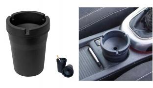 Butt Bucket Smokeless Black Car Ashtray 11 cm