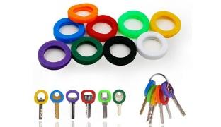 Hollow Multi Color Stretchy Rubber Soft Keys Cap 8 Pcs