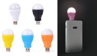 Portable Mini USB Powered Led Light Bulb For Laptop & Computer - Pink