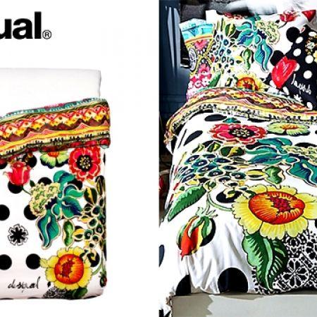 Bed 210 160.Desigual Polka Dots Cotton Duvet Cover Single Size 160 X 210 Cm