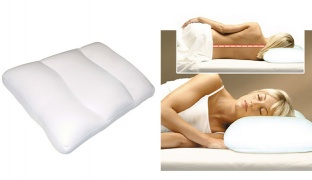 Air Infused Orthopedic Micro Bead Cloud White Pillow 43 x 31 x 14 cm