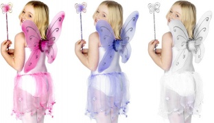 Kids Butterfly Fairy Costume 3 Pcs - Pink