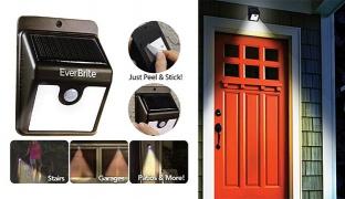 Ever Brite Light Solar Powered Cordless Led Motion Sensor Path & Security Light