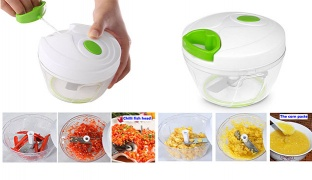 Manual Compact Plastic Handheld Food Chopper