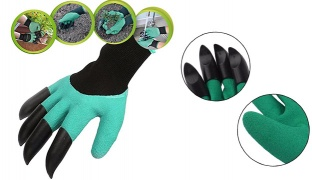 One Pair Garden Genie Gloves For Pruning Digging & Planting With Fingertips ABS Plastic Claws One Size