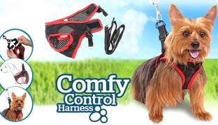 Comfy Control Pet Leash Harness For Medium Dogs
