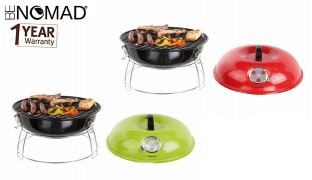Be Nomad Transportable Charcoal Barbecue Grill - Red
