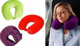 Memory Foam Neck Pillow - Green