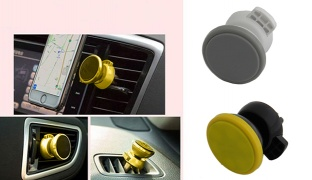 Earldom 360° Round Car Phone Holder - Black/Yellow