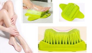 Bathroom Foot Green Brush Cleaning & Scrubber Slipper Massage With Sucker