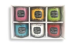 Set Of Jardin De Fleurs Mini Bucket Scented Candles 6 Pcs