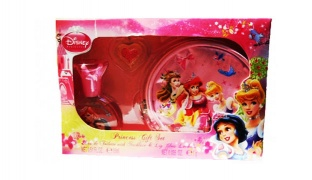 Disney Princess 4 pcs Gift Set EDT 150 ml, Purse, Necklace & Lipgloss Locket For Kids