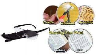 Big Vision Plastic Glasses 160 Degrees Magnifying Eyewear Unisex