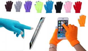 Magic Touch Winter Knit Stretch Screen Gloves For Smartphones Unisex - Pistache