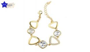 Swarovski Elements Gold Plated Crystal Bracelet For Women