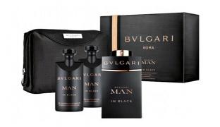 Bulgari Man In Black 3 Pcs Gift Set EDP 100 ml , Shower Gel & After Shave 75 ml For Men