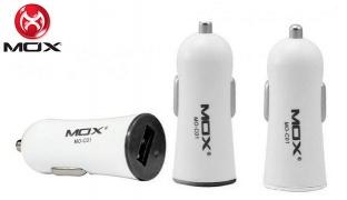 Mox C01 Car Charger 1 USB Port 1 A - White/Black