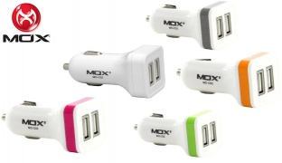 Mox MO-C02 Car Mobile Charger - White