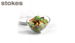 Stokes Zenya Clear Glass Salad & Fruit Bowl