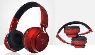 Snhalsar S150 Burgundy High Resolution Sound Wireless Bluetooth Headphone