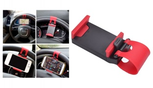Multifunctional Car Steering Wheel Phone Socket Holder