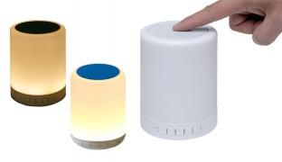 Magic Touch Lamp Portable Bluetooth Speaker - White/Black