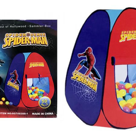 Spiderman Play Tent With 50 Colorful Balls