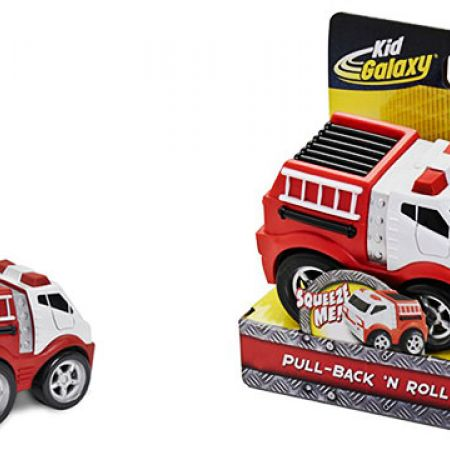 Kid Galaxy Squeezable Pull Back Fire Truck