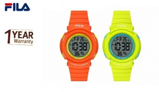 Fila Digital Rubber Watch For Kids - Orange