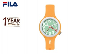 Fila Orange Rubber Watch For Kids