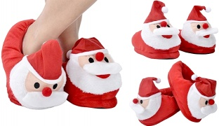Christmas Red Santa Claus Slippers With Non Slip Soles Unisex - Size: 36