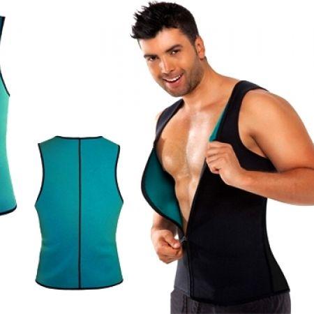 9bad44d585 Hot Shapers Blue Neoprene Slimming Vest Corset With Zipper For Men - Large  - Makhsoom