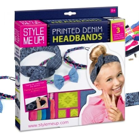 Style Me Up Printed Denim Headbands