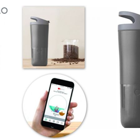 Ozmo Grey Smart Coffe & Water Cup