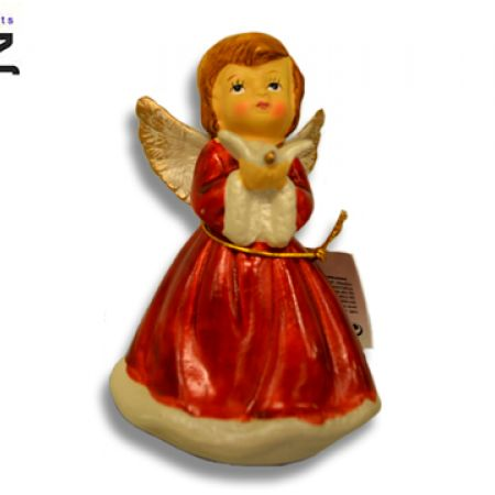 Itemz Polystone Red Figurine Standing Angel