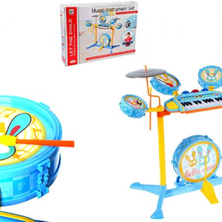 Jazz Drum 17 Keyboard Piano Music Play Set