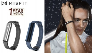 Misfit Ray Wl Activity Tracker With Black Sport Band - Polished Stainless Steel