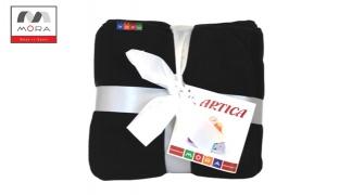 Mora Black Blanket Fleece Single Size 180 x 240 cm
