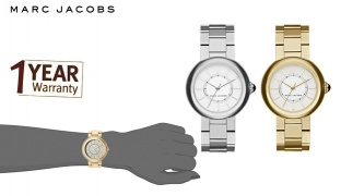 Marc Jacobs Courtney Stainless Steel Round Watch For Women - Gold