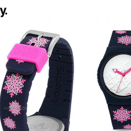 Superdry Urban Flakes Multicolor Rubber Strap Round Watch For Women