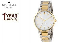 Kate Spade Gramercy White Dial Two-tone Round Watch For Women