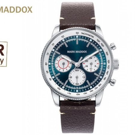Mark Maddox MM HC2008-37 Brown Leather Strap Round Watch For Men