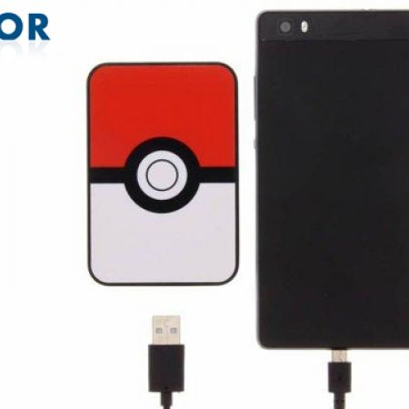 Kondor Pokemon Pokeball Credit Card Sized Power Bank 5000 mAh