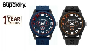 Superdry Tokyo Multi Round Watch For Men - Black